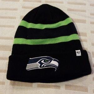 Kids Seahawks hat. One size. 6/8 fits best.